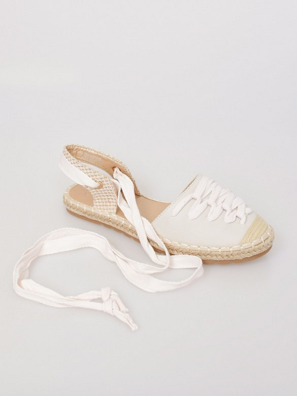 Alpargata lace up white