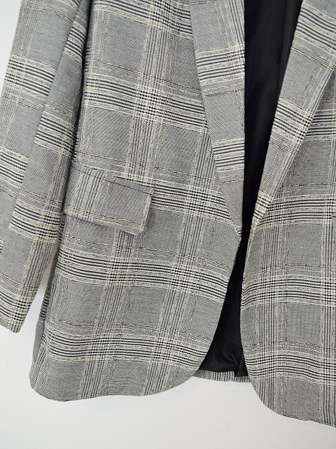 Blazer cuadros relieve