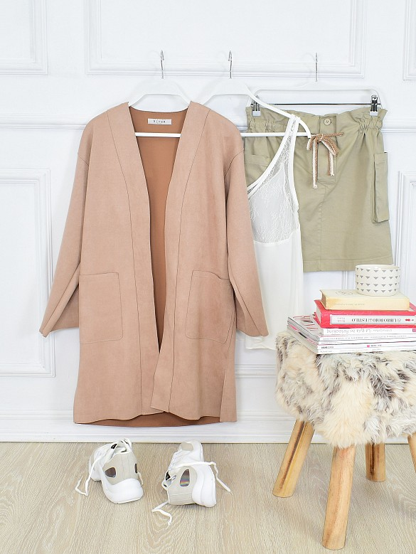 Trench nude fluido