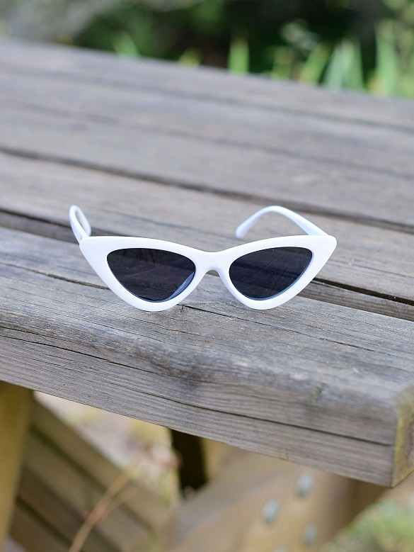 Gafas de sol cat eyes White