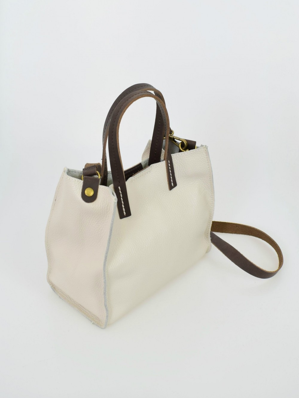 Bolso piel mini shopper